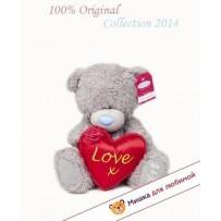 Мишка тедди (me to you) - держит сердце LOVE X - 25 см