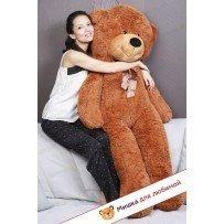 Плюшевый медведь Тихон (Шоколадно-бурый) - 160см