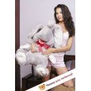 Плюшевый слоник Борис (Серый) - 60см