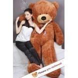 Плюшевый медведь Тихон (Шоколадно-бурый) - 200см