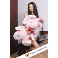 Плюшевый слоник Карл (Розовый) - 60см