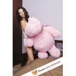 Плюшевый бегемот Юрик (Розовый) - 100см
