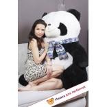 Плюшевая панда Снежана (Бело-черный) - 125см