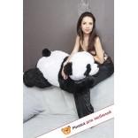 Плюшевая панда Ангелина (Бело-черный) - 110см