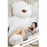 Плюшевый мишка Зевс (Белый) - 220см