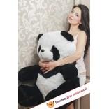 Плюшевая панда Маргарита (Бело-черный) - 80см