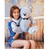 Плюшевый мишка Тедди 80 см (серый)