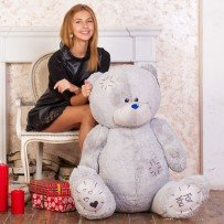 Плюшевый мишка Тедди 150 см (серый)